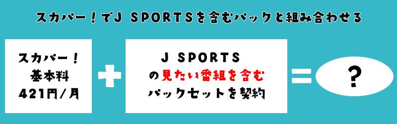 スカパー!でJJPORTSを含むパックを契約する